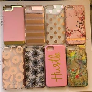 iPhone 7/8 Phone Cases Pink Variety Sale Used/New
